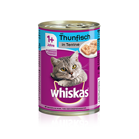 WHISKAS® Dose mit Thunfisch in Terrine 400g